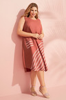 Sara Linen Panel Stripe Dress