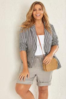Plus Size - Sara Linen Blazer - 250318