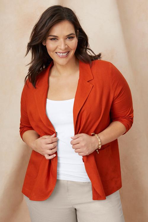 Sara Linen Blazer