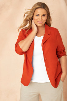 Sara Linen Blazer - 250318