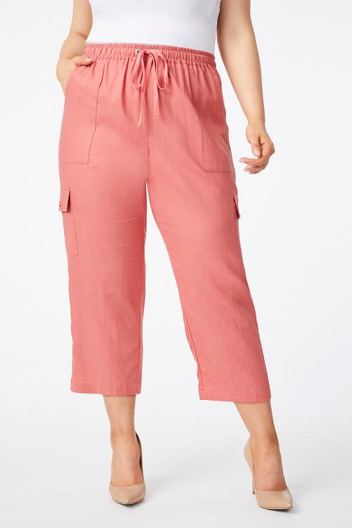 Sara Cargo Pocket Linen Pant