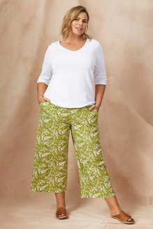 Sara Wide Leg Linen Pant - 250321