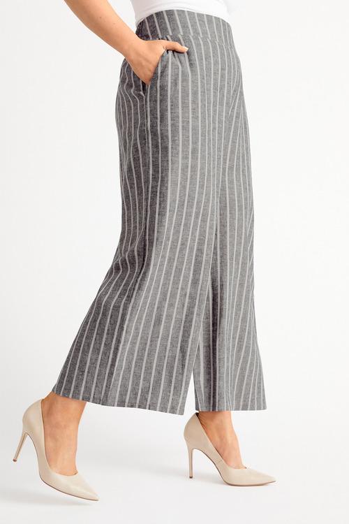 Plus Size - Sara Wide Leg Linen Pant