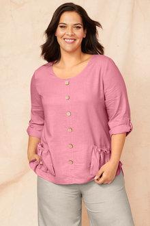 Sara Linen Pocket Tunic - 250331