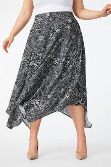Sara Trapeze Hem Skirt - 250334