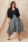Sara Trapeze Hem Skirt