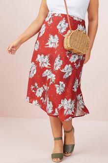 Sara Angled Hem Skirt - 250335