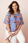 Plus Size - Sara Linen Button Top