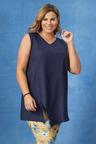 Plus Size - Sara Sleeveless Linen Tunic