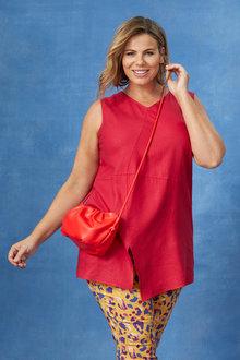 Sara Sleeveless Linen Tunic - 250337