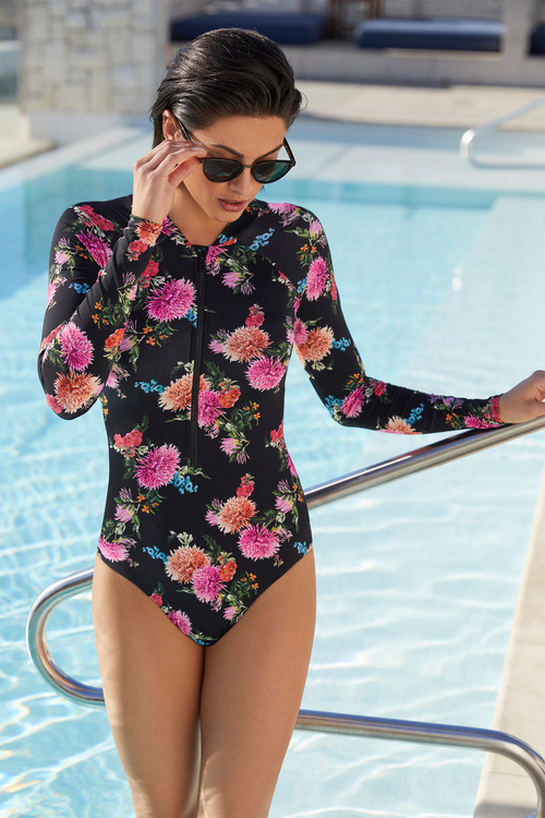 Quayside Long Sleeve Rash Swimsuit