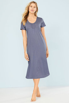 Mia Lucce Long Pintuck Nightie - 250470