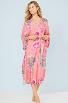 Mia Lucce Soft Print Robe - 250495
