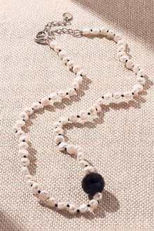 By Fairfax & Roberts Baroque Pearl and Onyx Wrap Short Necklace - 250532
