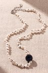 By Fairfax & Roberts Baroque Pearl and Onyx Wrap Short Necklace