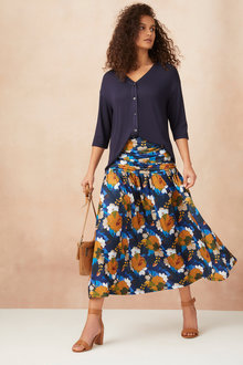 Capture Gather Waist Skirt - 250541