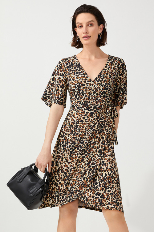 Capture Knit Wrap Dress