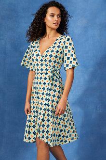 Capture Knit Wrap Dress - 250551