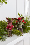 Winter Reindeer Hanging Decorations Set of Two