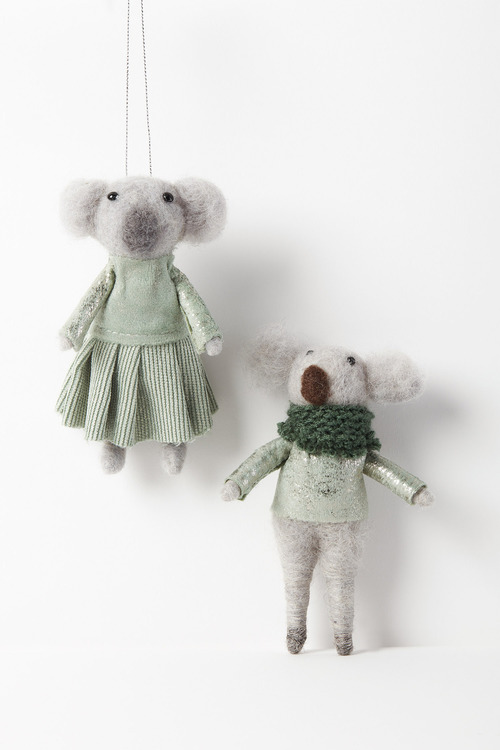 Mr and Mrs Koala Hanging Decorations Set of Two