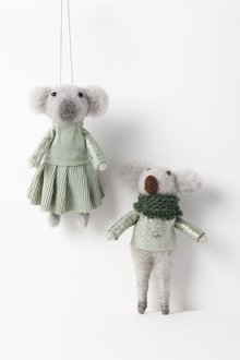 Mr and Mrs Koala Hanging Decorations Set of Two - 250595