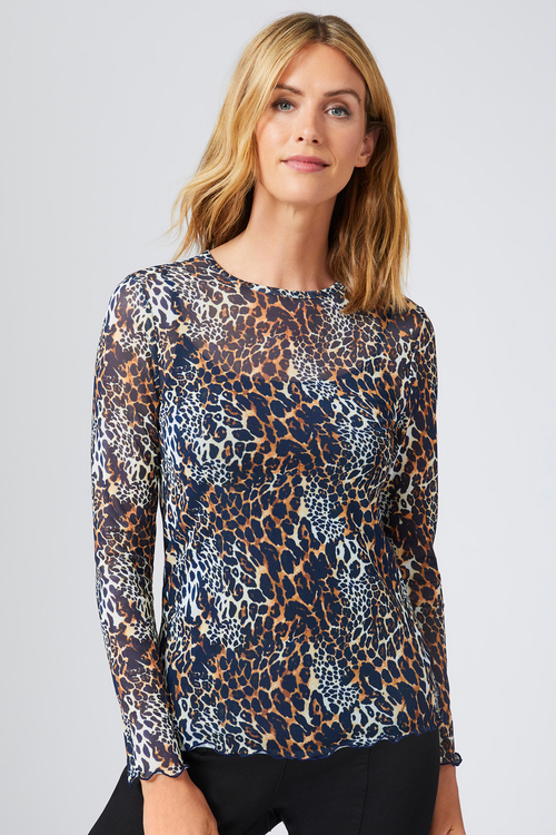 Capture Tulle Long Sleeve Layering Top