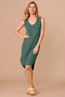 Capture Cotton Slub Sleeveless Shift Dress - 250644