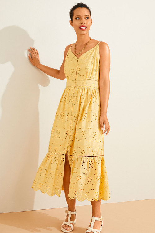 Emerge Broderie Button Front Dress