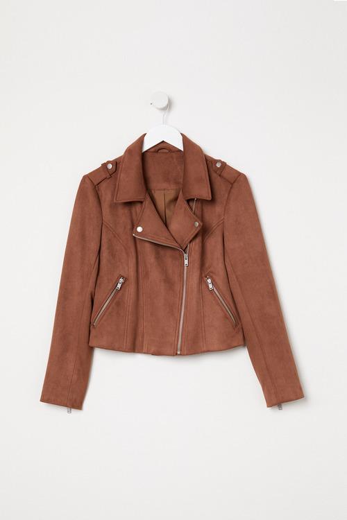 Emerge Suedette Biker Jacket