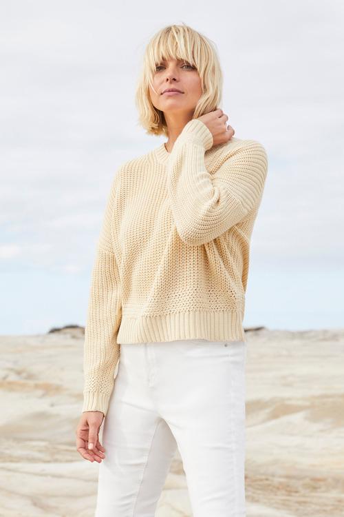 Emerge Rib Crew Neck Sweater