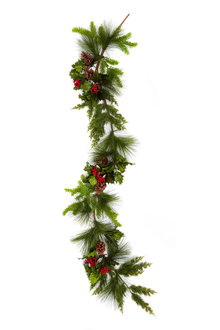 Festive Holly Garland - 250717