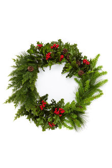 Festive Holly Wreath - 250718