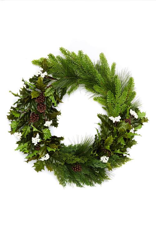 Festive Holly Wreath
