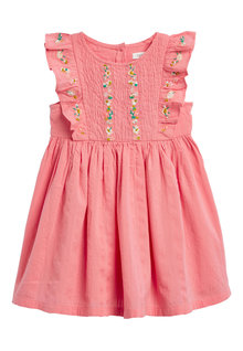 Next Embroidered Shirred Cotton Dress (3mths-7yrs)
