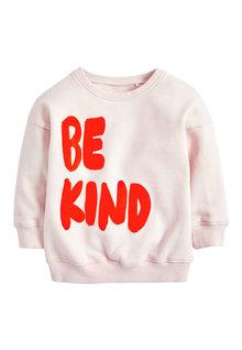 Next Be Kind Slogan Sweatshirt (3mths-7yrs)