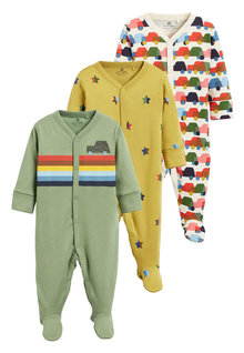 Next 3 Pack Car Sleepsuits (0mths-2yrs)