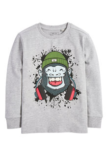 Next Long Sleeve Gorilla T-Shirt (3-16yrs)
