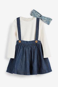 Next Long Sleeve Skirt Set With Headband (3mths-7yrs)