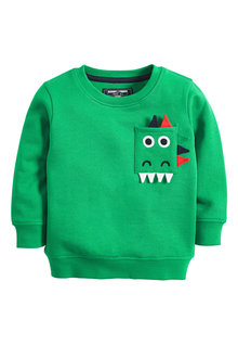 Next Dino Pocket Crew Neck Sweater (3mths-7yrs)