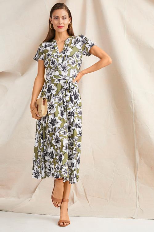 Grace Hill Dry Knit Midi Dress