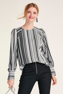 Heine Cuff Sleeve Striped Top