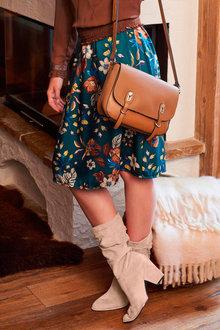 Heine Floral Print Skirt - 250960