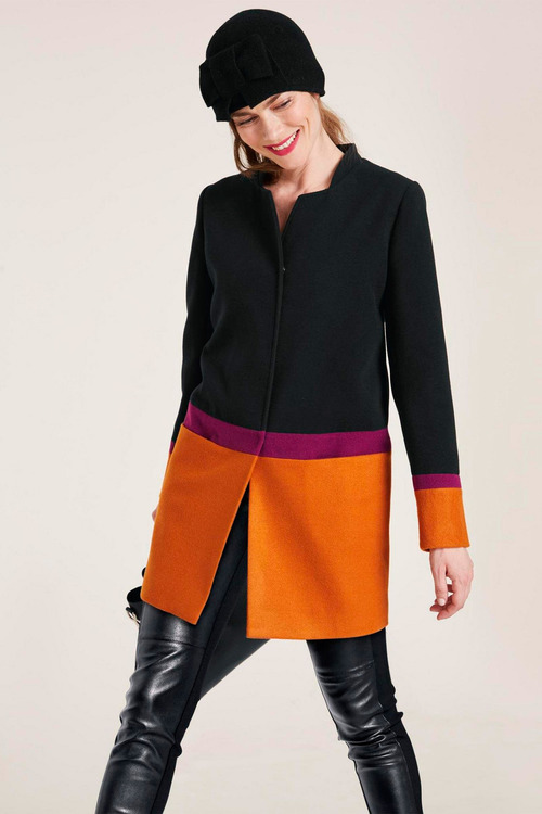 Heine Colour Block Coat