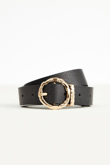 Accessories Round Buckle Leather Croc Belt - 251061