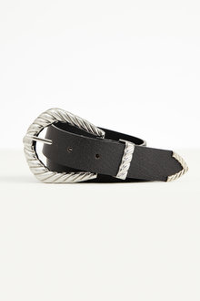 Accessories Textured Buckle Leather Belt - 251062