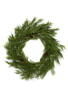 Cypress Snow Wreath - 251067