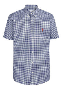 Next Gingham Long Sleeve Slim Fit Stretch Oxford Shirt