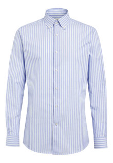 Next Slim Fit Button Down Cotton Striped Shirt
