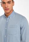 Next Slim Fit Denim Bleach Wash Long Sleeve Shirt