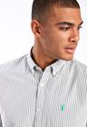 Next Stripe Long Sleeve Regular Fit Shirt